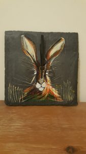 Scottish Hare Slate Clock