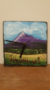 Scottish Mountain Slate Clock